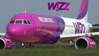 WIZZ AIR Airbus A320   Close up Taxi and Takeoff from Hamburg Airport