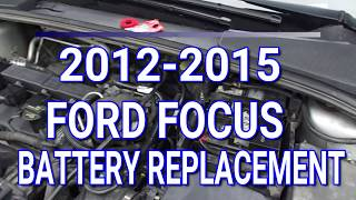 2012-2015 Ford Focus Battery Replacement
