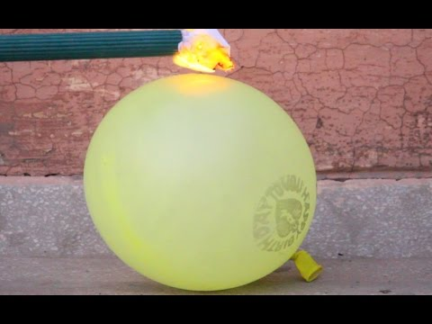 hydrogen gas filled balloon explosion
