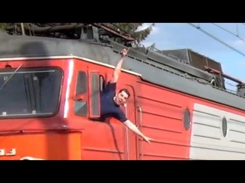 Приветливые локомотивные бригады на Московском ж/д узле (1 часть)