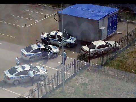 """Иркутск: погоня за пьяным водителем """"Тойоты Креста"""" / The Pursuit Of A Drunk Driver Of Toyota Cresta"""