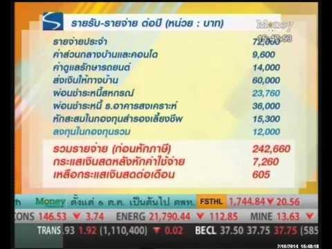 วางแผนการเงิน (อายุ 32 ปี เงินเดือน 1.4 หมื่นบาท ต้องการผลตอบแทนจากการลงทุนให้เท่ากับรายได้)
