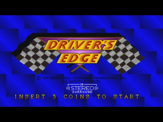 Driver's Edge (MAME Arcade) Gameplay -all tracks-