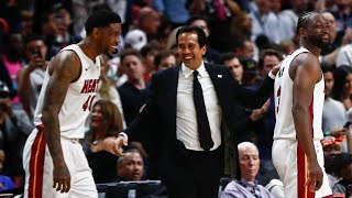Miami Heat's Udonis Haslem says it might be last NBA game after double-double performance.