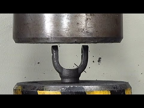 Can This Thick Piece Of Iron Withstand 100 Tons Of Hydraulic Pressure?