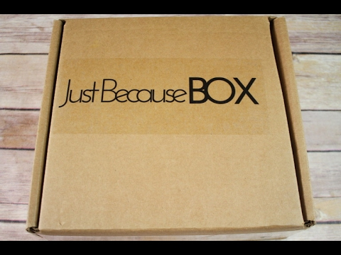 Just Because Box January 2017 Unboxing + Coupon