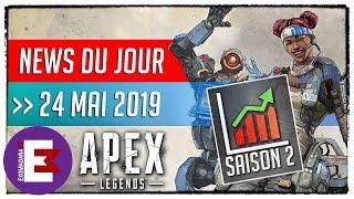 APEX LEGENDS LA SAISON 2 POUR RELANCER LE JEU ?   24 Mai 2019