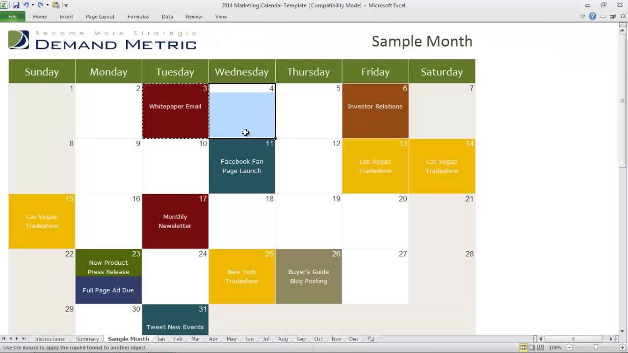 Marketing Communications Calendar YouTube - Communications calendar template
