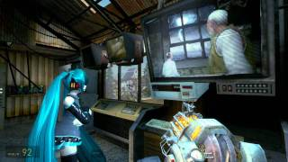 Half-Life 2: Episode 2 - start of the game (with Hatsune Miku)
