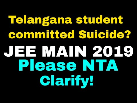 #NTA   JEE MAIN 2019   Telangana Student Committed Suicide ? #Shame On Some Persons😢