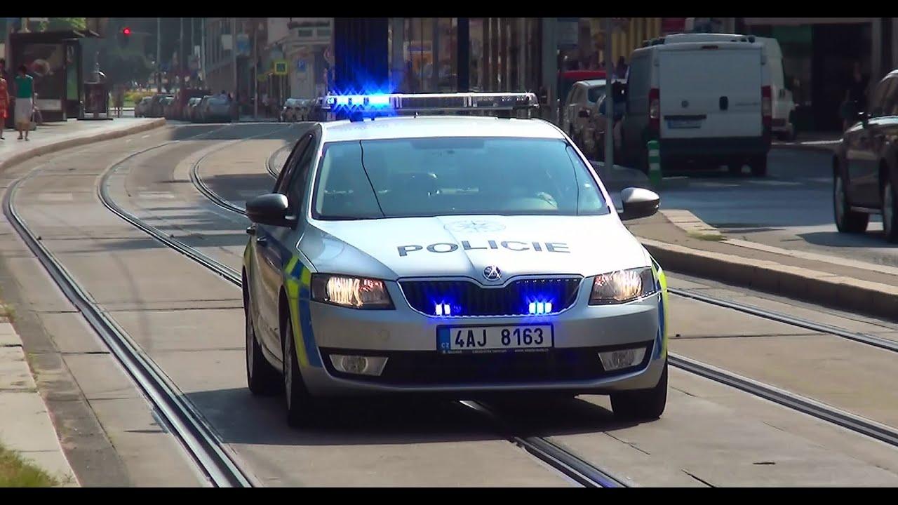 Hlídkový vůz Policie ČR Praha - YouTube