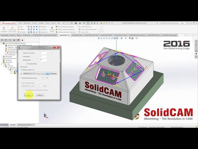 SolidCAM 2016 - Drehen um Nullpunkt und Benutzerdefinierte Achse