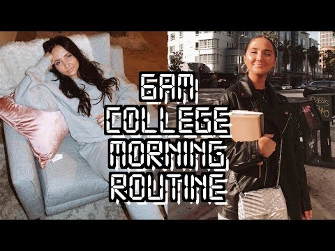 6AM College Morning Routine | Productive College Morning Routine