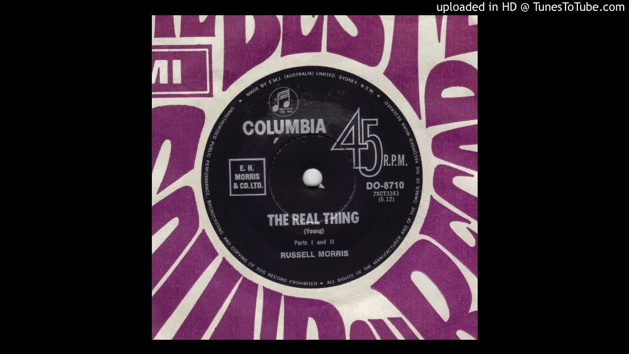 Russell Morris The Real Thing Youtube
