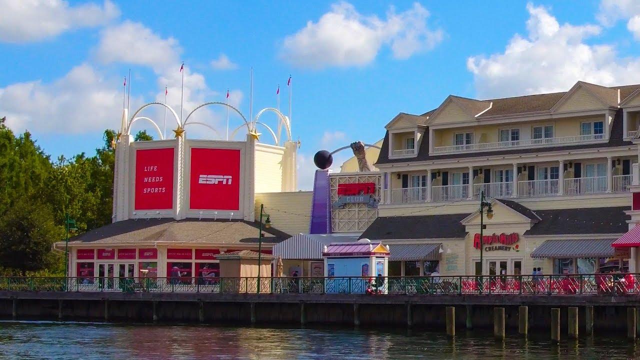 4k Espn Club At Disney S Boardwalk Inn Disney Deluxe Resort Hotels Youtube