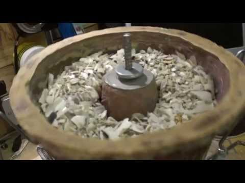 Home Made vibratory Coin & rock cleaner