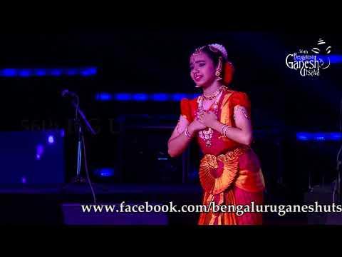 """bharatanatyam-""""bhagyada-lakshmi-baramma""""-by-kum.kiran-kamath-at-56th-bengaluru-ganesh-utsava,-2018"""