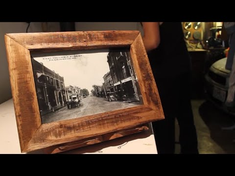 Pallet Wood Picture Frame - YouTube