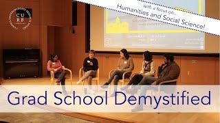 Grad School Panel 2020 - Humanities/SS (Webinar) | CURB