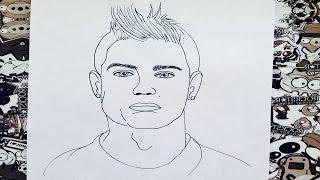 Como dibujar a cristianó Ronaldo | how to draw cristiano ronaldo | como desenhar o cristiano ronaldo