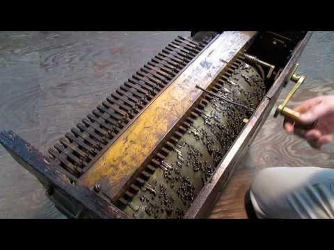 Old barrel organ, Abide with me.