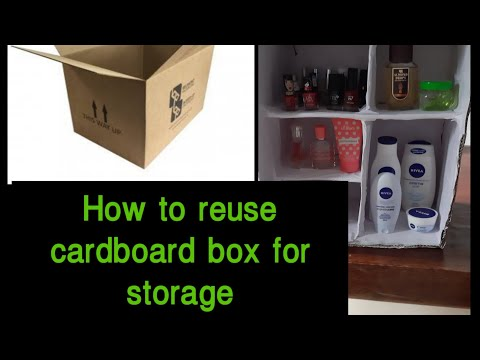 DIY/How to reuse cardboard box for storage/do it urself/easy craft