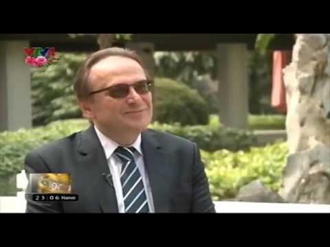 H.E. Ambassador Extraordinary and Plenipotentiary speaks to Ms. Hong Hoa on VTV Channel, Hanoi