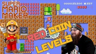 RED COIN CHALLENGES - Super Mario Maker - YOUR LEVELS MY WAY!