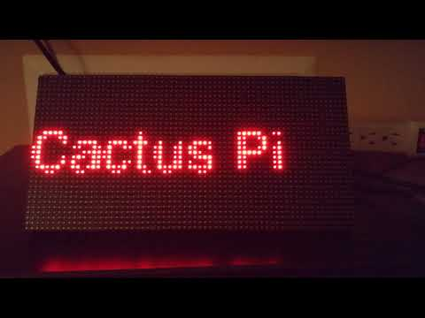 Creating a NodeJs LED Matrix display framework with Raspberry Pi