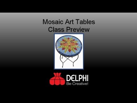 Mosaic Art Tables Preview | Delphi Glass