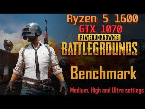 PUBG Benchmark | Ryzen 5 1600 + GTX 1070