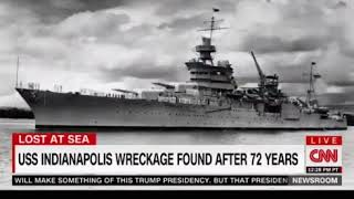 Lost USS Indianapolis made famous in JAWS found Saturday in the Philippine Sea after 72 years