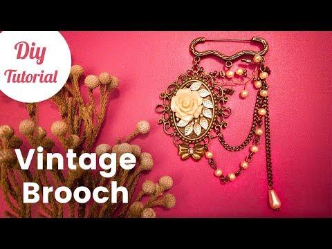 DIY Vintage Brooch Pin Tutorial [English Subtitles]