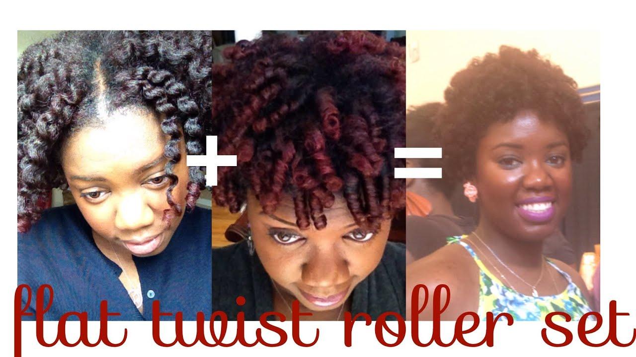 natural hair flat twist roller