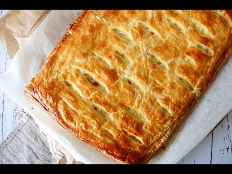 Delicious Creamy Chicken Pie With Puff Pastry - Easy Dinner - By One Kitchen