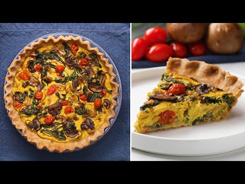 Garden Vegetable Vegan Quiche