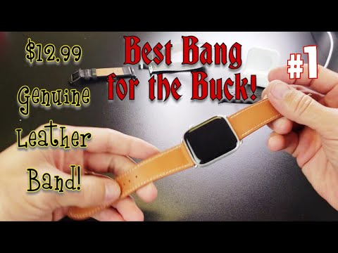 Apple Watch Leather Band (42/44mm) Best Bang For The Buck! $12.99 Sport Edition
