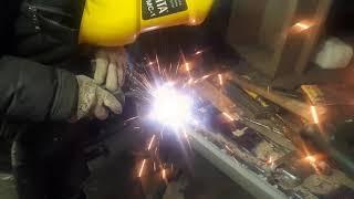 Нива замена задней панели ( фартука) , установка заднего бампера!!!