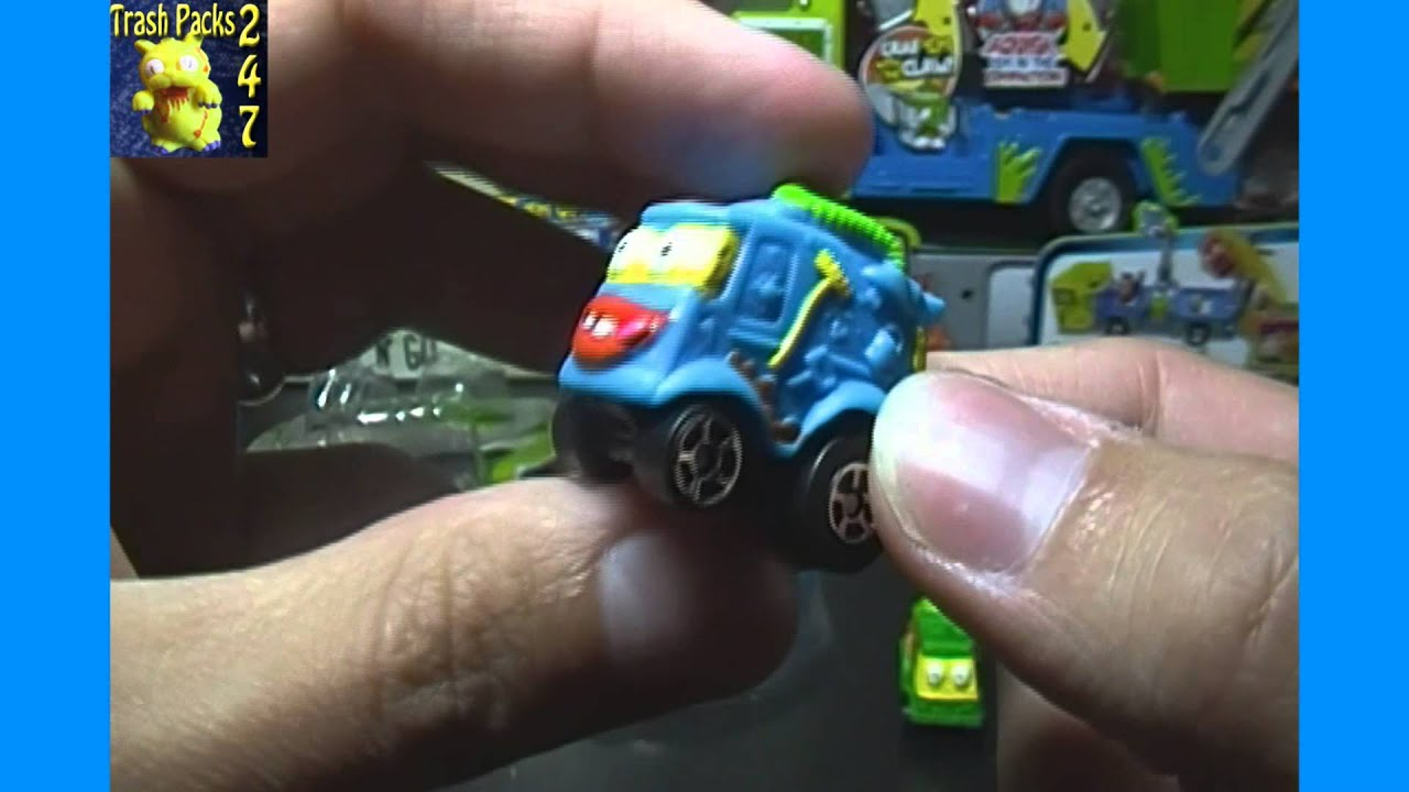 Opening a Trash Wheels Muck Trucks 2 Pack of Trash Pack Cars - YouTube