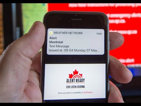 Tests for emergency mobile alert messages start across Canada