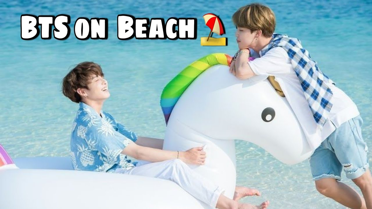Game on beach ⛱  // Bts play in Waterpark // Hindi dubbing // bts run ep 84 // Part-2