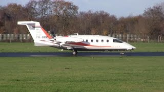 Piaggio P-180 Avanti II ► Landing ✈ Groningen Airport Eelde