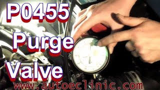 how to fix a check engine light p0455 emissions purge valve replacement