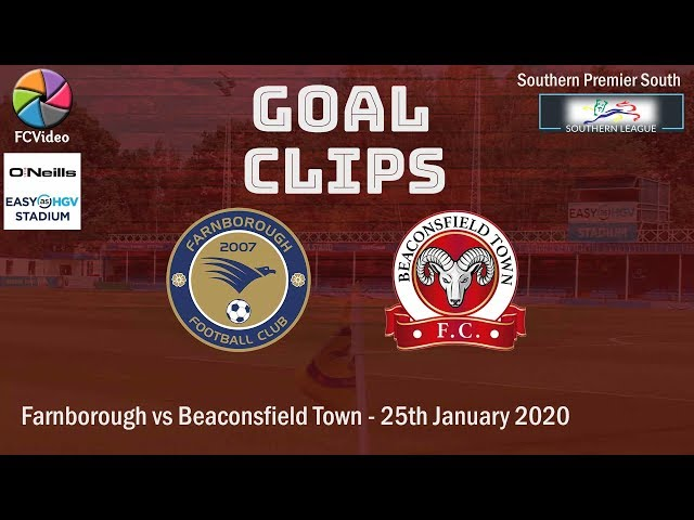 2020-01-22 | Farnborough vs Beaconsfield Town | Goals