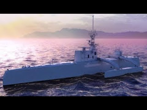 잠수함 헌터 무인 로봇배 Unmanned Submarine Hunter Vessel Demo