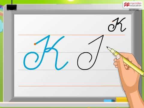 Cursive Writing Capital Letter K Macmillan Education India Youtube