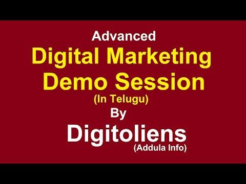 Advanced Digital Marketing Free Demo Session In Telugu   Digitoliens (Addula Info)