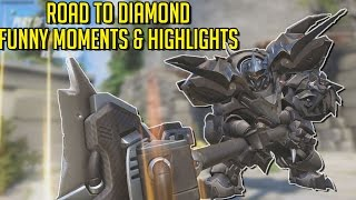 OverWatch Road To Diamond Funny Moments, Game Highlights