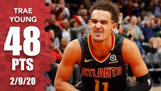 Trae Young records 48-point double-double in Knicks vs. Hawks | 2019-20 NBA Highlights