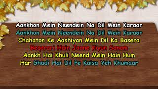Aankhon Mein Neenden Na Dil Mein Karaoke Sanam